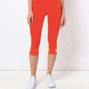 Adidas Stella McCartney Orange Cropped Leggings